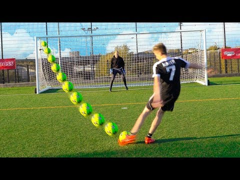 YOUTUBER WEAK-FOOT FOOTBALL CHALLENGE!