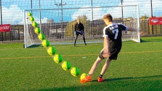 YOUTUBER WEAK FOOT FOOTBALL CHALLENGE!