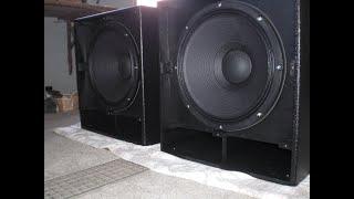 Selbstbau Lautsprecher PA Bassreflex Subwoofer 18 Zoll Speaker