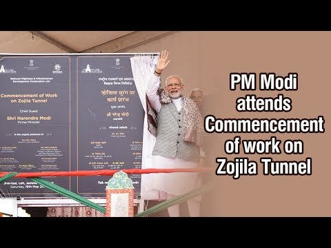PM Modi attends Commencement of work on Zojila Tunnel