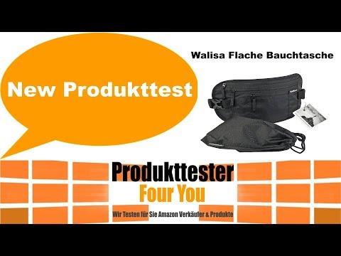 Produkt Bewertung Review Walisa Flache Bauchtasche