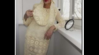 Креативные вязаные крючком платья. Crochet dresses for women