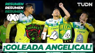 Resumen y Goles   FC Juárez 1 - 4 León   Liga Mx Clausura 2020 - Jornada 9   TUDN