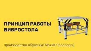 Электромеханический вибростол. Принцип Работы