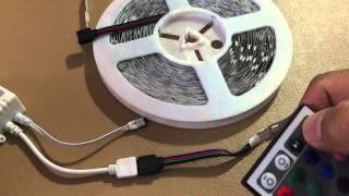 Rxment LED Strip Lighting (10M) 32.8 Ft 5050 RGB 300LEDs Flexible Color Changing Full Kit