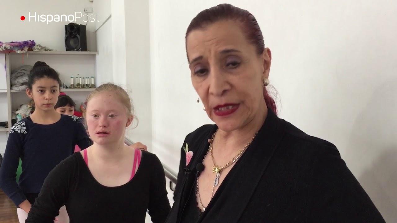 La bailarina de ballet y gimnasta con Síndrome de Down