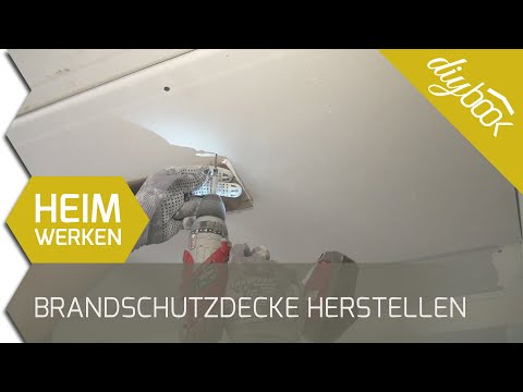 F90 Brandschutzzdecke herstellen - Trockenbaudecke doppelt beplanken