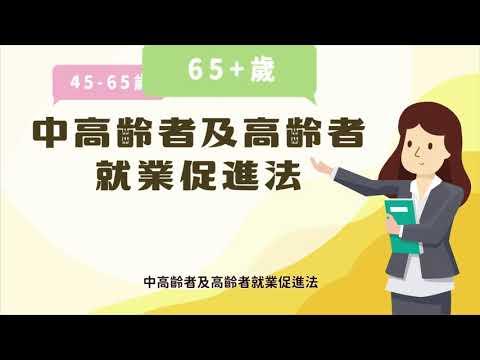 中高齡者及高齡者就業促進法簡介動畫短片