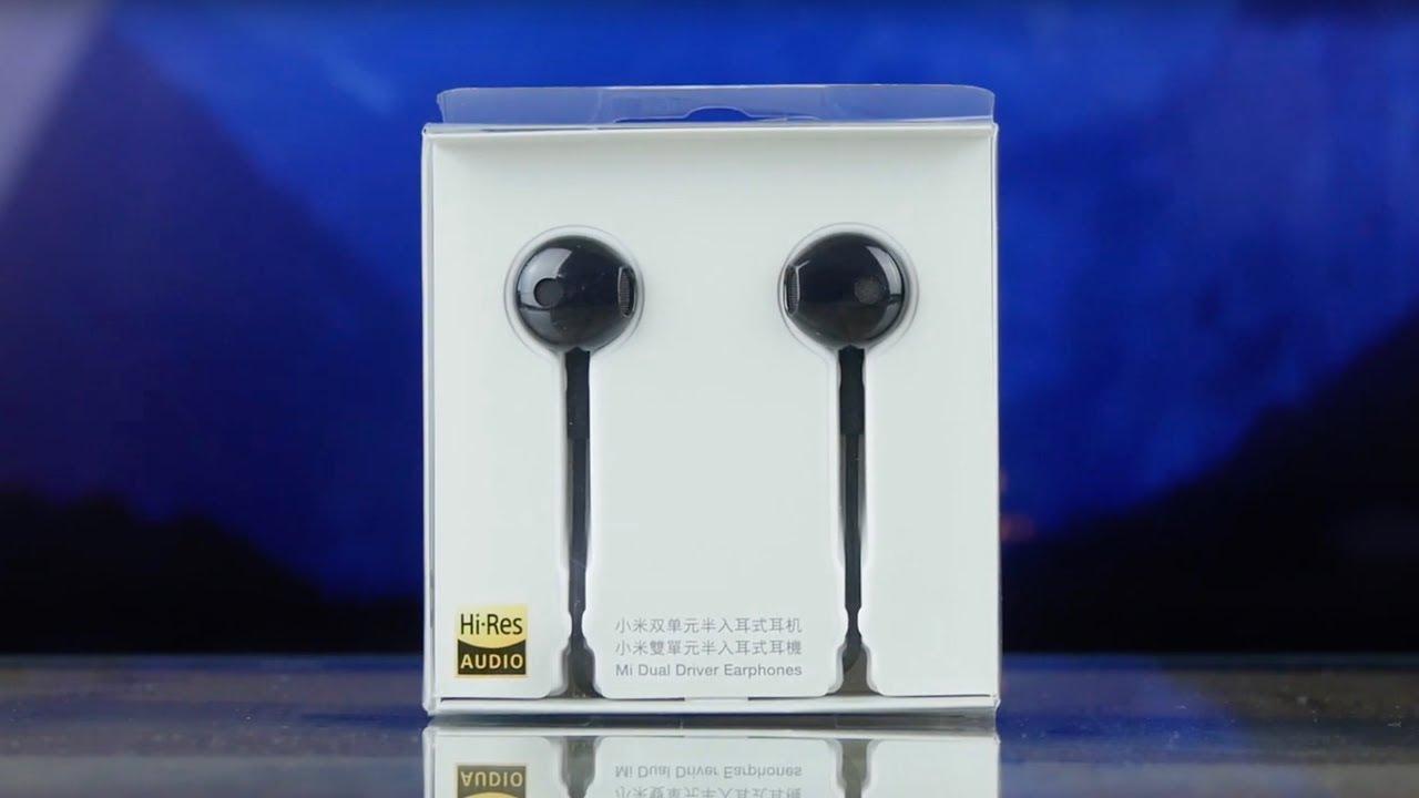 Наушники Xiaomi Mi Dual-Unit Half-Ear Headphones White video preview