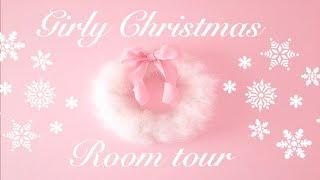 ❄️🎀Girly Christmas Room Tour+ DIY Shabby Chic Room Decor🎀❄️