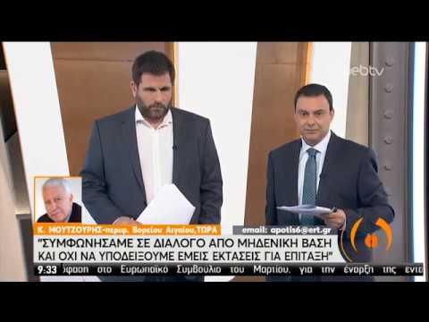 Κ. Μουτζούρης: Είμαστε έτοιμοι να κάνουμε διάλογο αλλά από μηδενική βάση | 19/02/2020 | ΕΡΤ