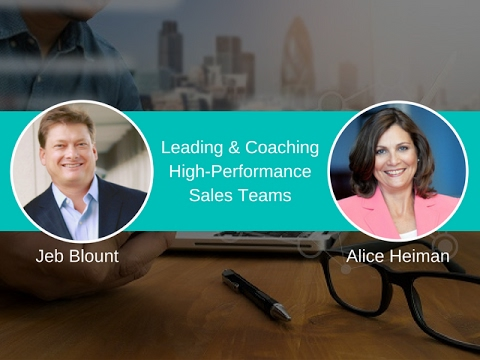 Leading and Coaching High Performance Sales Teams  - Video Image