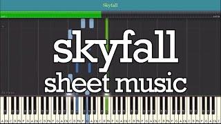 SKYFALL (ADELE) Piano Sheet Music - Easy Piano Tutorial