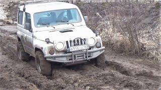Нивы, Шеви Нивы, Kia Retona, Соболь, Opel Frontera по грязи  в Курумоче. Часть 1