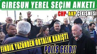 Giresun'da Yerel Seçim Anketi Fındık Kavgasına Dönüştü. Polisler Geldi.