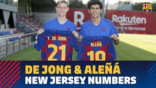 Frenkie De Jong To Wear Number 21;  Carles Aleñá Changes To 19