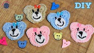 Easy Crochet Teddy Bear Applique Tutorial