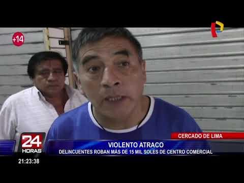 Cercado de Lima: roban celulares y 15 mil soles de galería en avenida Abancay