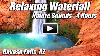 Relaxing Nature Sounds Waterfall Havasu Falls Water Relaxation Meditation Study Sleep Sound of Water