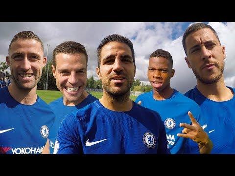 Hazard & Fabregas Take You Behind The Scenes For The Champions Team Photoshoot
