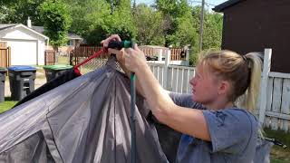 Coleman Hampton Tent - FAST SETUP & Disassembly & Review - NO INSTRUCTIONS Needed