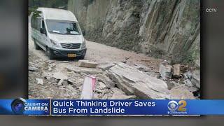 Landslide In China Just Misses Bus