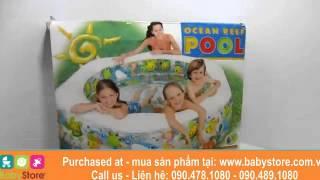Детский бассейн с надувным дном Intex 56493 Океанский риф, объем 541 л от компании Большая ярмарка - видео