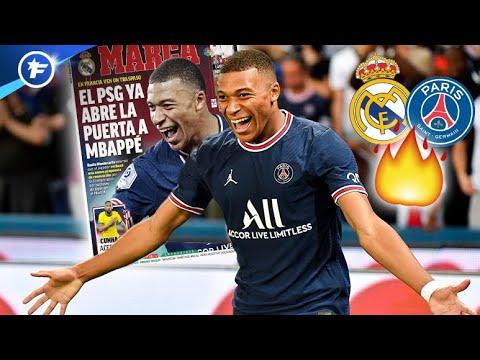 Le PSG ouvre la porte à un départ de Kylian Mbappé au Real Madrid   Revue de presse