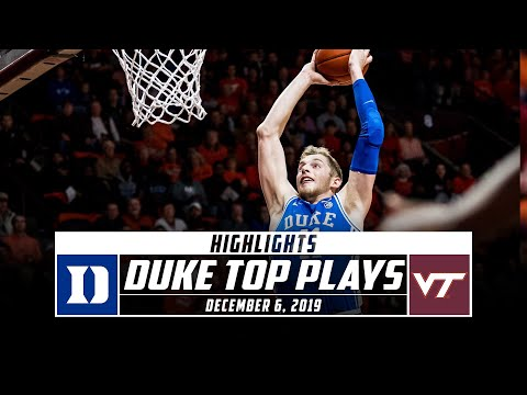 No. 10 Duke Basketball Top Plays vs. Virginia Tech (2019-20) | Stadium