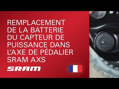 Remplacement de la batterie du capteur de puissance dans l'axe de pédalier SRAM AXS