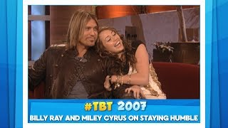 #TBT Billy Ray and Miley Cyrus on Staying Humble