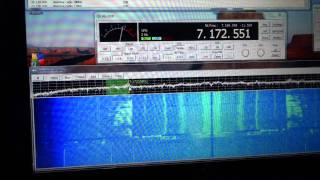 Alinco DX-R8/T  using with it's IQ output and KG-SDR on the computer in 40 Meters