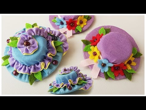 Two Ways to DIY Mini Hats Hairclips
