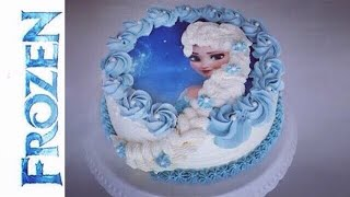 How To Make A Frozen Elsa Cake I Birthdaycake With Italien Meringue Buttercream