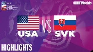 USA Vs. Slovakia   Highlights   2019 IIHF Ice Hockey World Championship