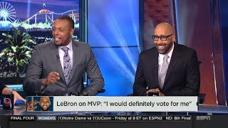 "NBA Countdown: LeBron James on MVP ""I would definitely vote for me""   Mar 28, 2018"
