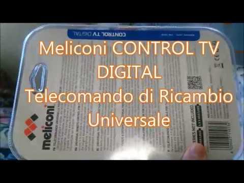 meliconi control tv digital istruzioni