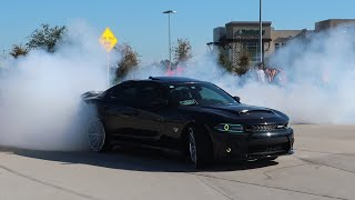 MOPAR MADNESS! CRAZY MUSCLE CARS GO WILD LEAVING CAR SHOW!!!