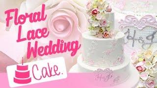 Cake Decorating: Floral Lace Wedding Cake