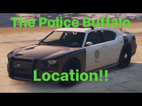 GTA 5 POLICE BUFFALO LOCATION NEW 2018!!