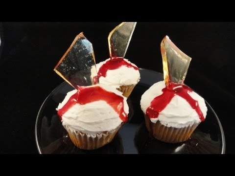 "Decorating Cupcakes #113: Broken Glass  ""Dexter"" Cupcakes- with yoyomax12"