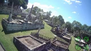Raise the dead. #fpvfreestyle #drone #cemetery