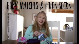 Ruby matches & folds socks