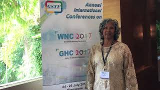 Dr. Gloria Carr at GHC Conference 2017 by GSTF Singapore
