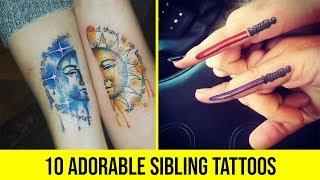 10 Adorable Sibling Tattoos