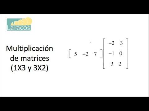Multiplicación de matrices (1X3 y 3X2)