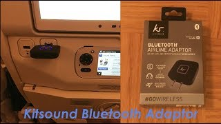 Kitsound Bluetooth Airline Headphones Adaptor - Review & How to Pair | Fix