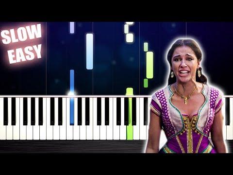 Naomi Scott - Speechless (Aladdin) - SLOW EASY Piano Tutorial by PlutaX