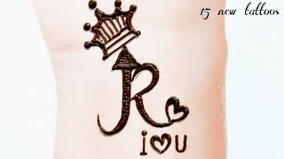 Top 15 🔥 R 🔥 Letter Mehndi Tattoos ❤️ Mehndi Letter Tattoo ❤️ Alphabet Mehndi By Keval Amit Gohel