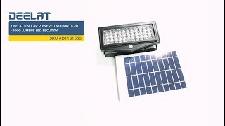 DEELAT ® Solar Powered Motion Light - 1000 Lumens LED Security     SKU #D1151538